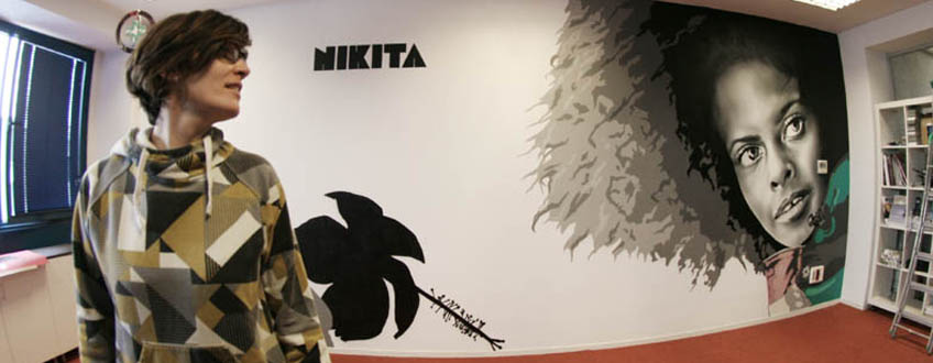 Murales de pared en interior_Nikita done