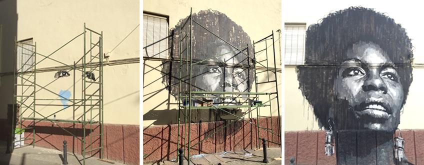 Mural de Nina Simone Linares
